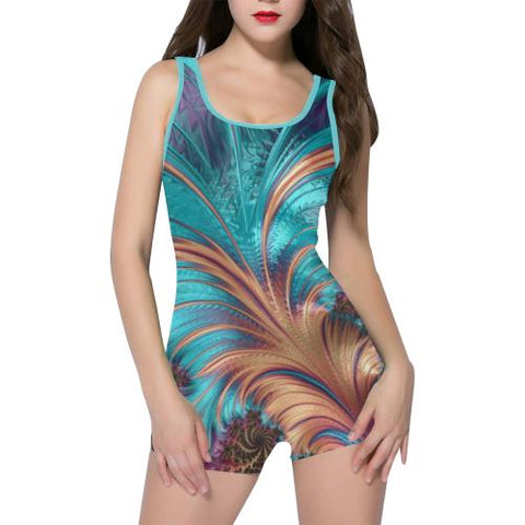 Tropical Paradise Women's One Piece Romper - dianadu-designs