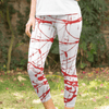 Image of Urban Graffiti Red Low Rise Capri Leggings - dianadu-designs