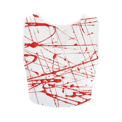Urban Graffiti Red Women's Fitted Crop Top