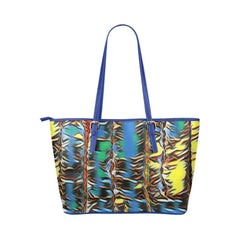 Urban Jungle Leather Tote Bag