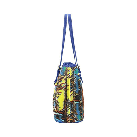 Urban Jungle Leather Tote Bag - dianadu-designs