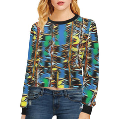 Urban Jungle Women's Cropped Pullover Sweatshirt - dianadu-designs