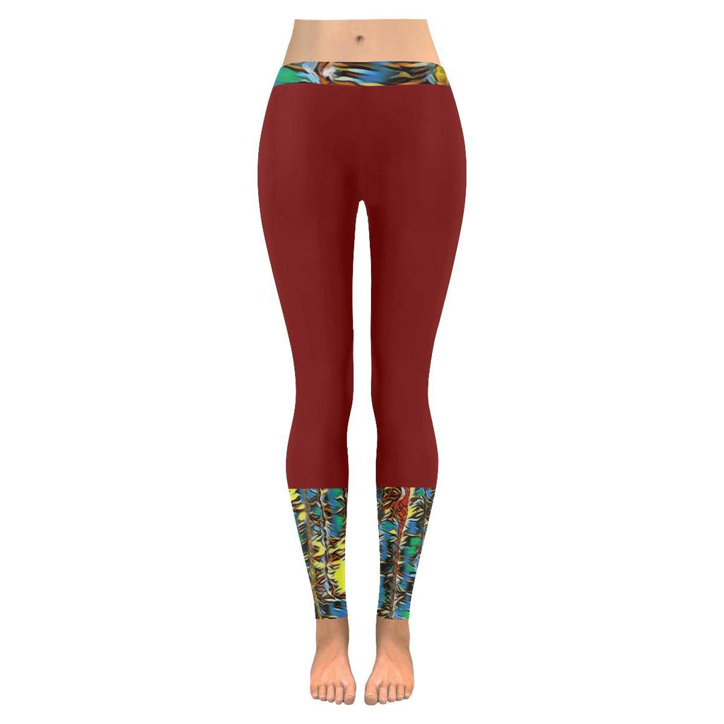 Urban Jungle Women's Low Rise Leggings - dianadu-designs