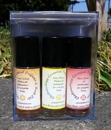 Vedic Chakra Bath Perfume Oil Set - dianadu-designs
