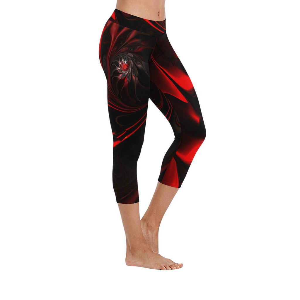 Velvet Underground Low Rise Capri Leggings - dianadu-designs