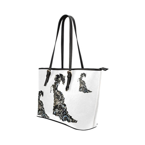 Victorian Lady Leather Tote Bag - dianadu-designs