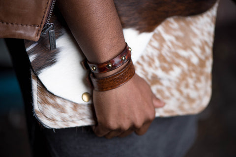 Distressed Studded Cuff