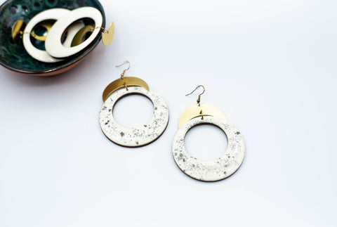 Pyrite Dusted Hoops