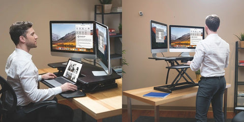 Sit Stand standing desk laptop table
