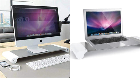 Aluminum Laptop and Desktop Stand With 4 USB Ports