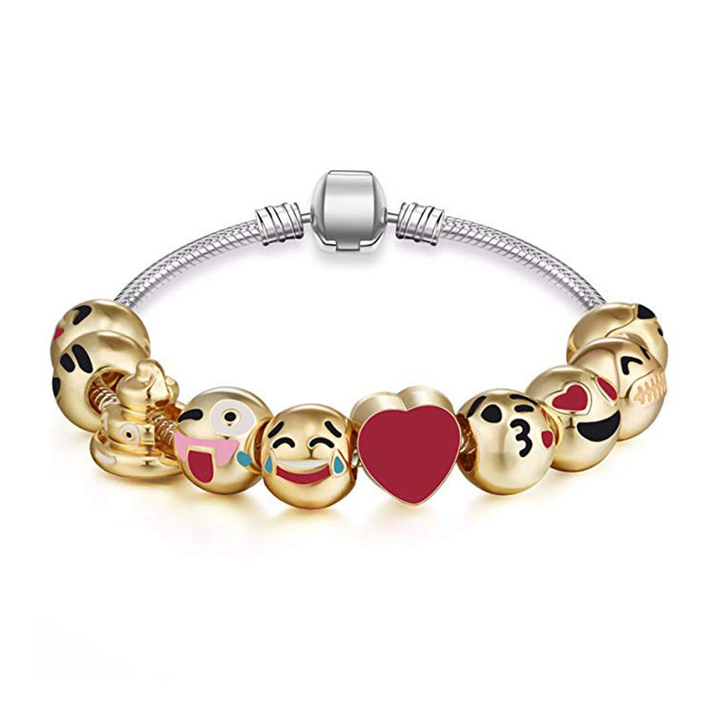 """Slide In Your Emotions"" DIY Smiley Bracelet - TrendiaStore"