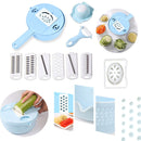 9-in-1 Multi-functional Food Chopper, Shredder, Strainer, Egg Separator & More - TrendiaStore