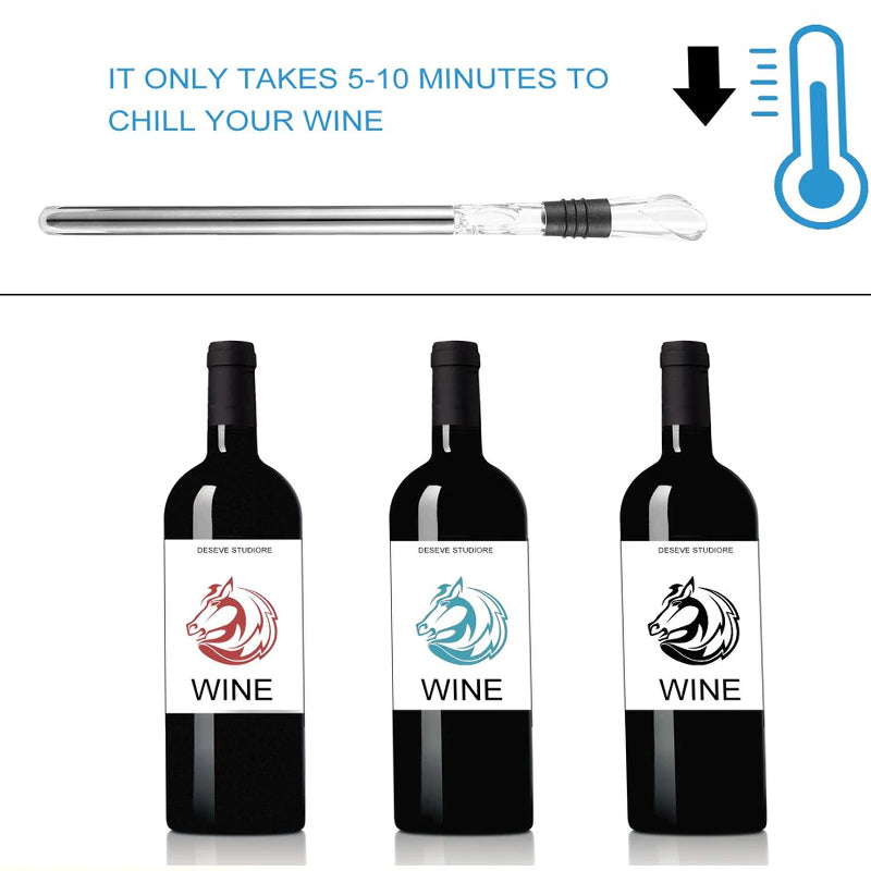 Wine Pourer Coolers Chiller Stick Spout Aerator