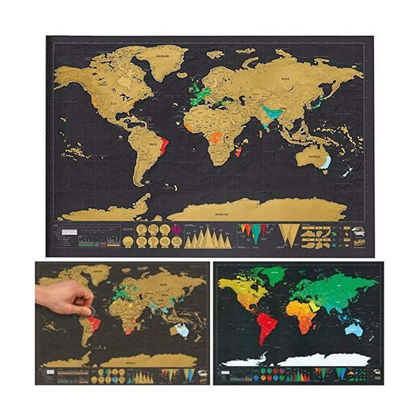 Countries Visited Scratch-Off World Map Wall Poster - TrendiaStore