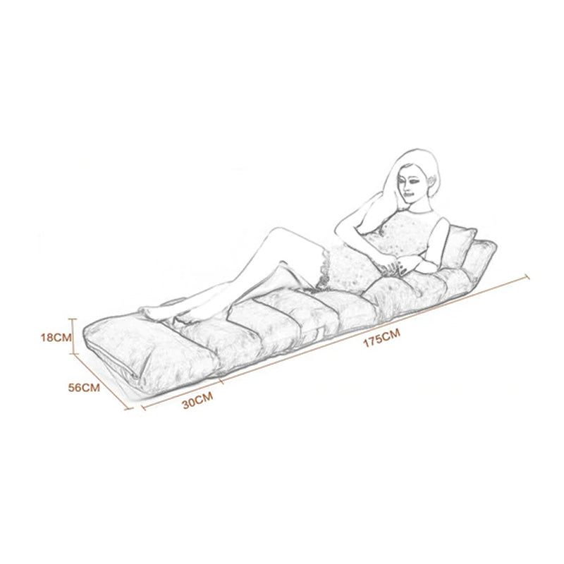 Sit-Slack-Sleep Floor Lounger Lazy Sofa | Sleepover Bed With Pillow | Adjustable 5-Angles - TrendiaStore