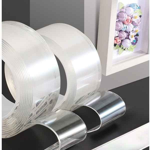 Reusable Strong Transparent Double-Sided Tape | Washable, No-Residue Cleanup - TrendiaStore
