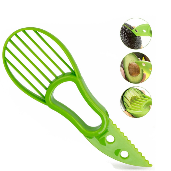 3-in-1 Butterfruit Cutter / Avocado Slicer Cutter Peeler | Multi Fruit Cutter - TrendiaStore