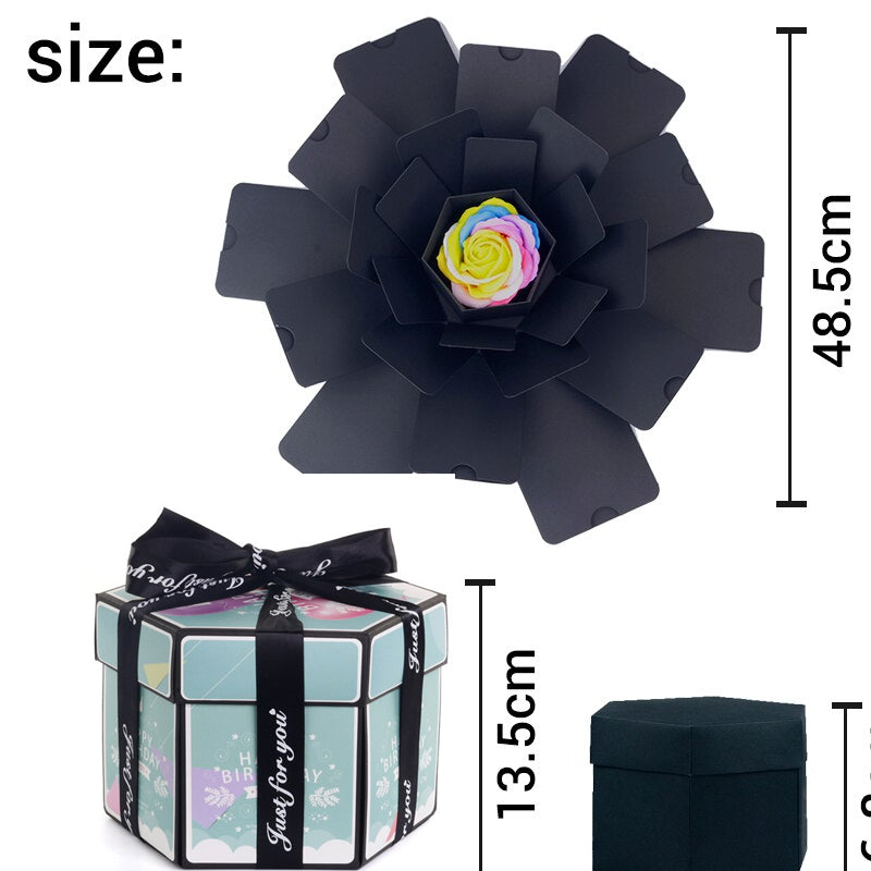 Hexagon DIY Photo Explosion Box - TrendiaStore