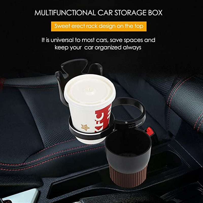 Car Mug, Bottle and Accessories Holder| Vehicle Cup Holder, Storage Organizer - TrendiaStore