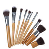 10-Pcs Bamboo Makeup Brush Set - TrendiaStore