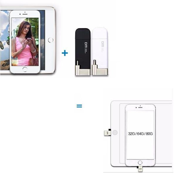 """Transfer Me Quick"" USB Flash Drive For iPhones, iPads & Computers - TrendiaStore"