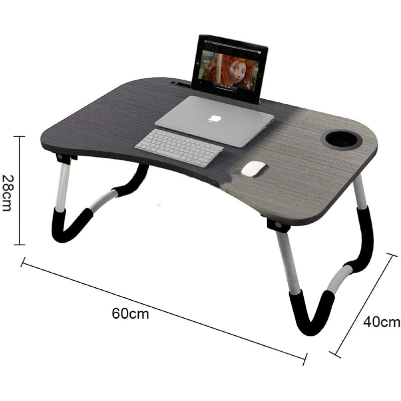 Multipurpose Foldable Laptop Table/Study Table with Cup Holder
