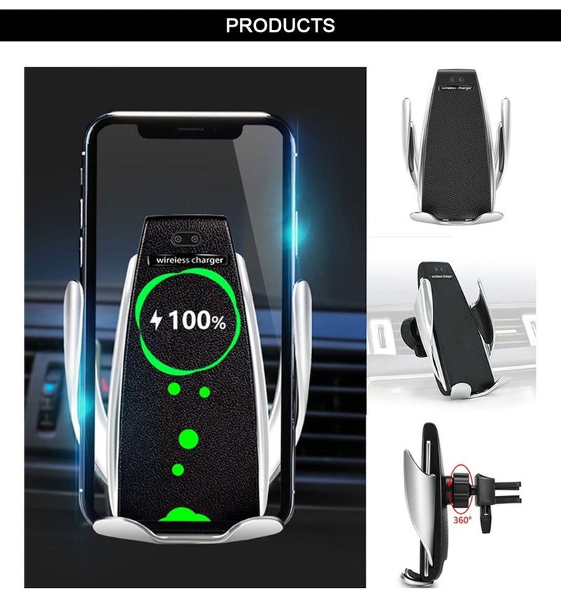 ADVANCED AUTOMATIC CLAMPING-SENSOR SMART PHONE HOLDER/CHARGER - TrendiaStore
