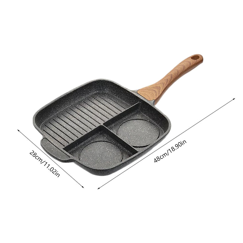 3 Slot Multi Functional Non-Stick Induction Pot