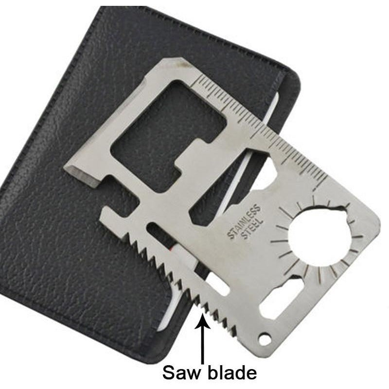 11-in-1 Credit Card Inspired Camping/Hike Multi Purpose Tool - TrendiaStore
