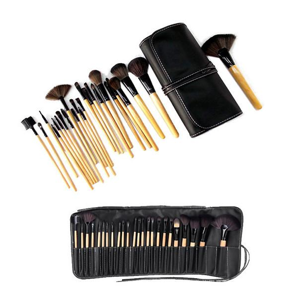 Makeup Brush Kit 24 Piece with Vegan-Leather Case - TrendiaStore