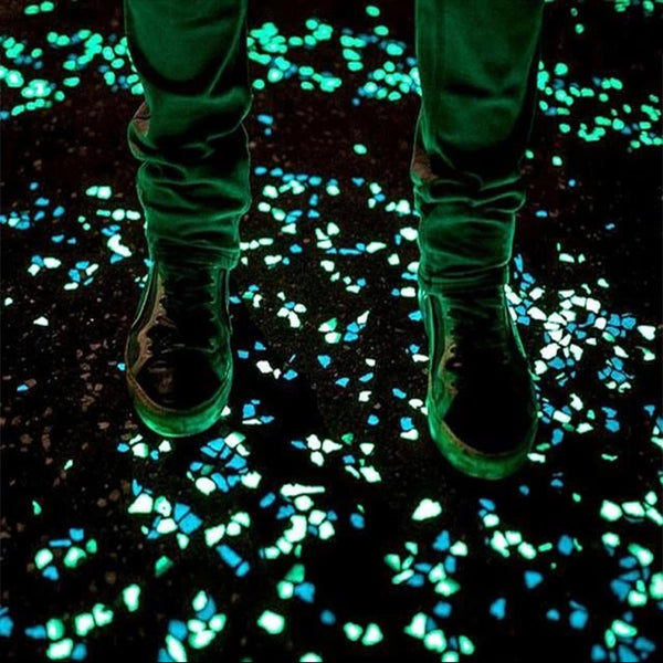 100-Pcs Glow-In-The-Dark Outdoor Decor/ Pathway Pebbles - TrendiaStore