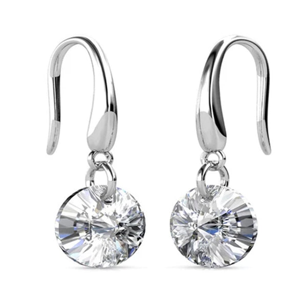 Solitaire Drop Earrings - TrendiaStore