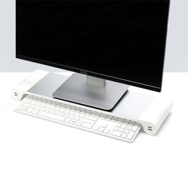 Space Saving Laptop and Desktop Stand with 4 USB Ports - TrendiaStore