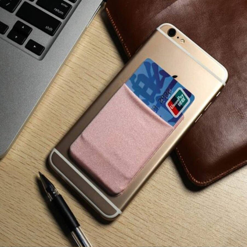 Adhesive Phone Pocket for Cards