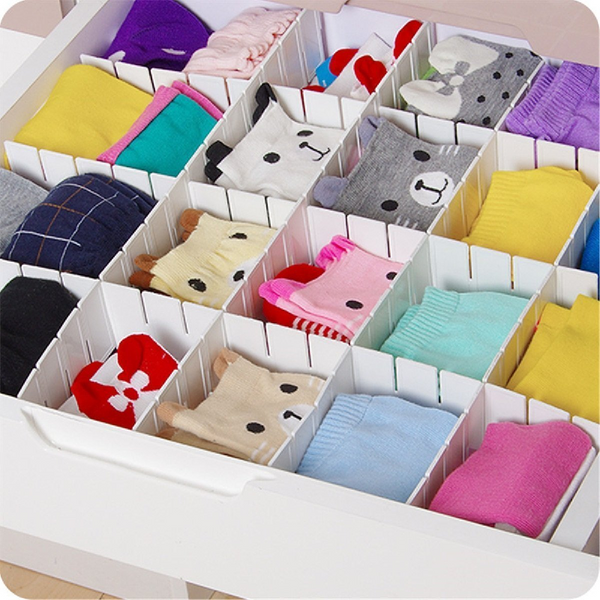 Adjustable Drawer Divider/Separator For Socks, Undergarments, Tools - TrendiaStore