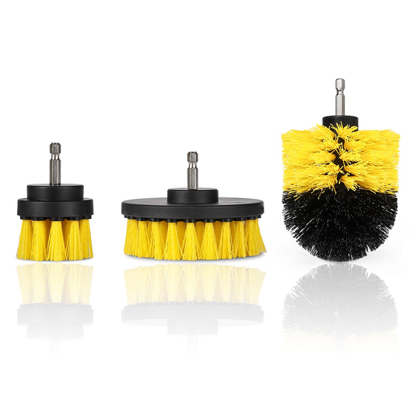 All-Purpose Pack of 3 Power Scrubber Drill Attachments - TrendiaStore