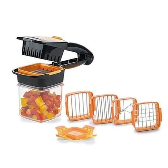 Hand-Held Fruit and Vegetable Push-Press Cutter And Chopper With 4 Blades - TrendiaStore