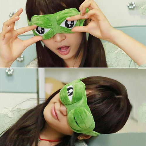 Frog Travel or Sleep Eye Mask with Ice Packs - TrendiaStore