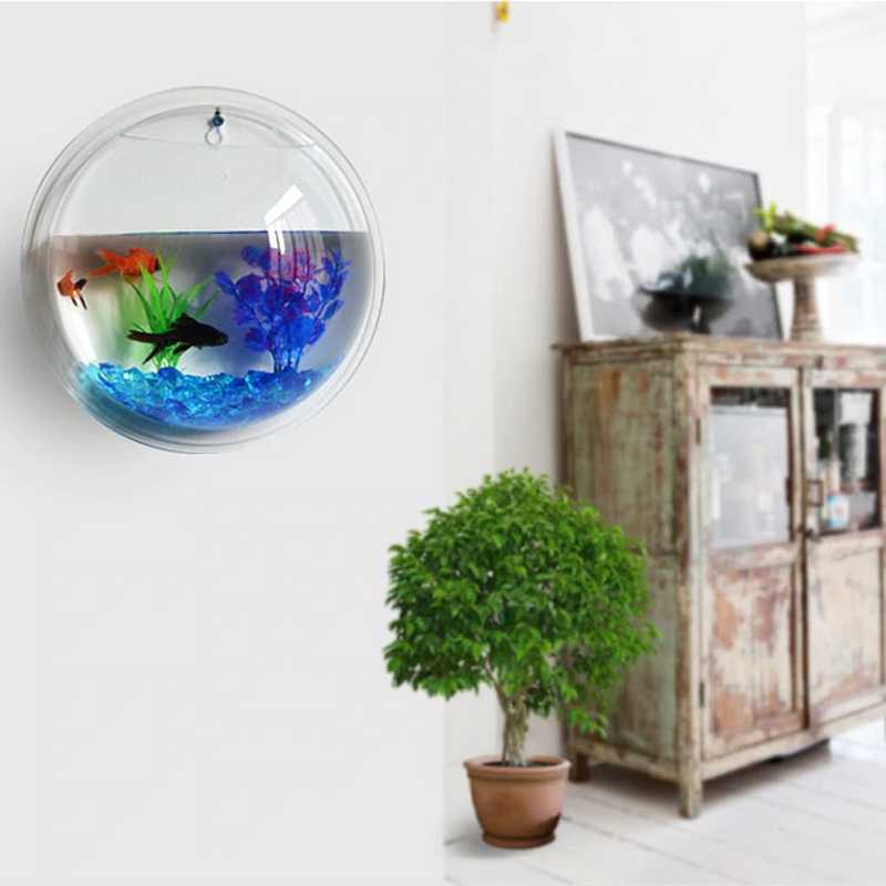 Wall Hanging Transparent Flower Vase/ Fish Bowl | Hydronic Planter - TrendiaStore