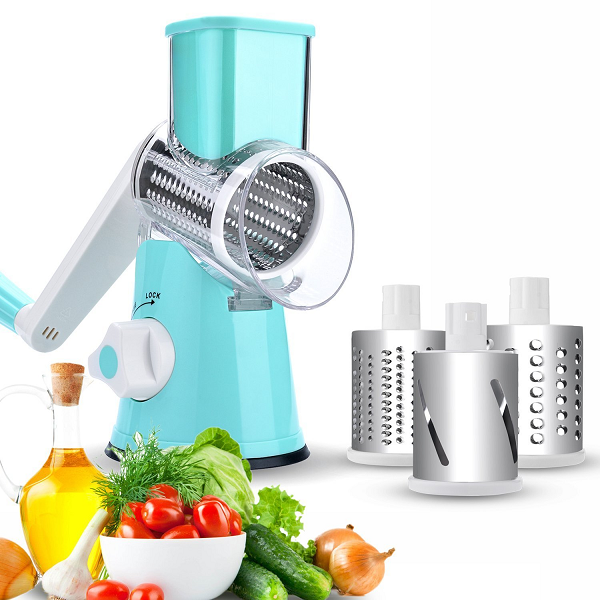 Hand-Pedal 3-in-1 Vegetable Chopper, Shredder And Grater - TrendiaStore