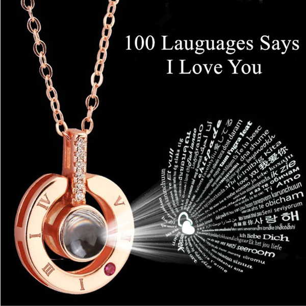 100 Languages Says I love you Projection Necklace - TrendiaStore