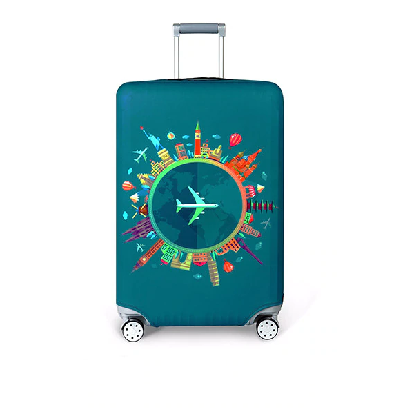 Protective Elastic Travel Suitcase Cover - Multiple Sizes And Prints Available - TrendiaStore