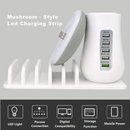 Mushroom Nightlight cum USB-Hub With 5 Charging Docks For Mobile/Tablet - TrendiaStore