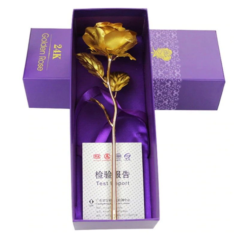 Gold Plated Rose With A Gift Box - TrendiaStore