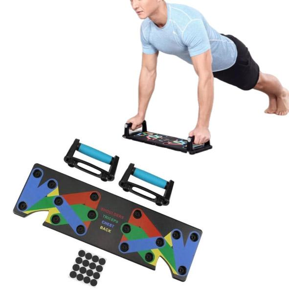 9-in-1 Portable Push Up Rack Board For Complete Upper Body Workout | Home Gym - TrendiaStore