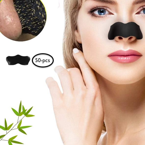50-Pcs Activated Charcoal Blackhead Removing Nose Strips - TrendiaStore