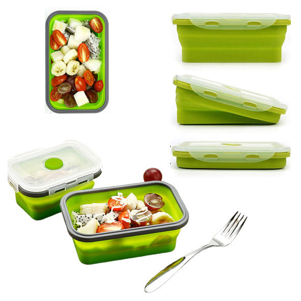 Leak-Proof Airtight Silicone Collapsible Lunch Box - TrendiaStore
