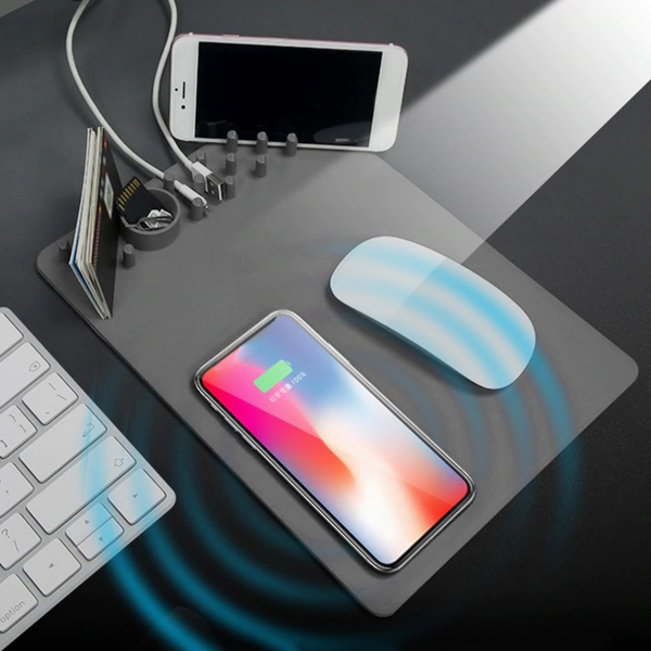 Wireless Anti-Slip Mouse Pad Charger & Organizer - TrendiaStore