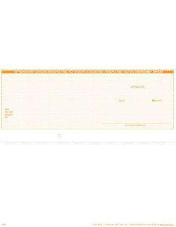 C3 - BUSINESS LASER CHECKS - ECONOMY VALUE MIDDLE CHECKS (GOLDENROD) - 500/PACK
