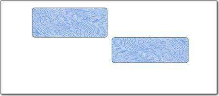 E4 - #10 ADP Tinted Secure Payroll Check Double Window Envelopes (1,000 Count) - Envelopes - CHAX SOFTWARE INC